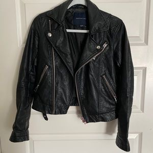 American Eagle Faux Leather Motorcycle Jacket
